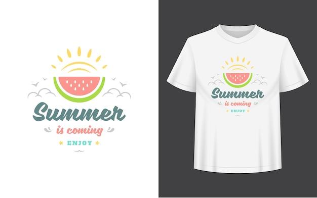 Sommer zitat und t-shirt.
