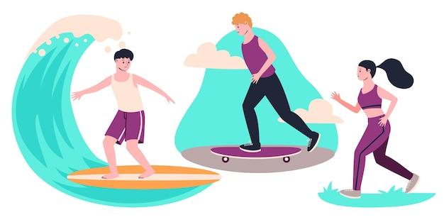 Sommeraktivitäten im freien