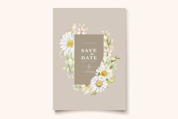 Sommeraquarell-chrysanthemenblumen-kartensatz