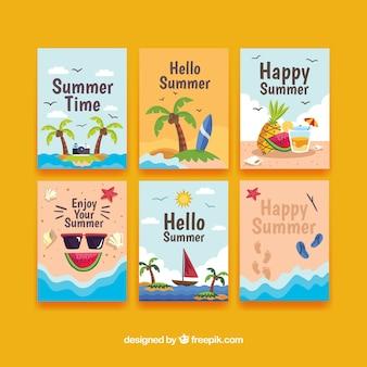 Sommerauswahl von großartigen karten