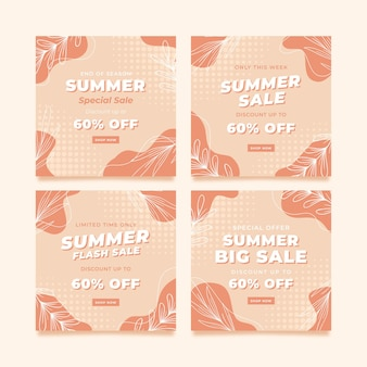 Sommerbanner instagram-post-vorlage