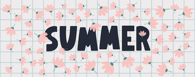 Sommerbanner mit blumen