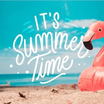 Sommerbeschriftung mit foto