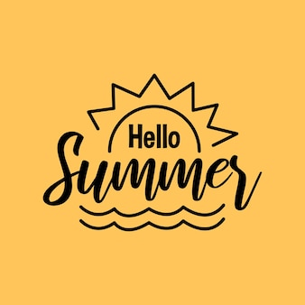 Sommerbeschriftung zitiert typografiedesign handgeschriebener feiertag des sommerzitats
