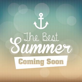 Sommerdesign über musterhintergrundvektorillustration