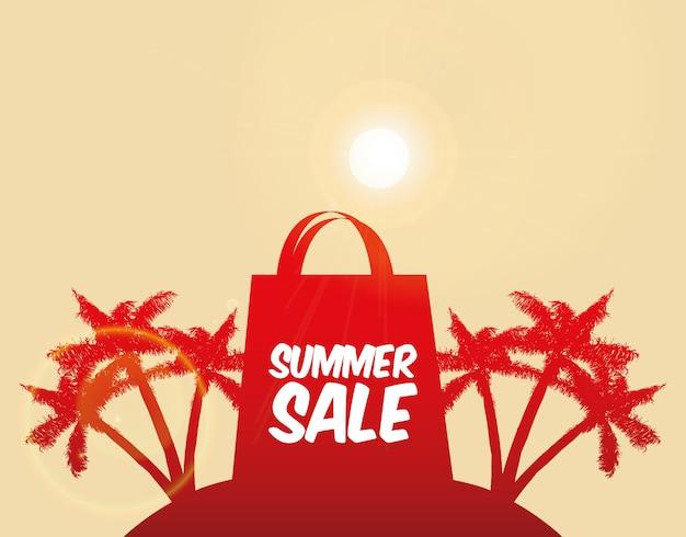 Sommerdesign über rosa hintergrundvektorillustration