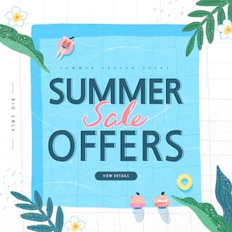 Sommereinkaufsereignisillustration. banner