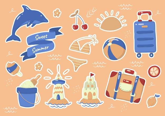 Sommeretikett logo für banner, poster, flyer