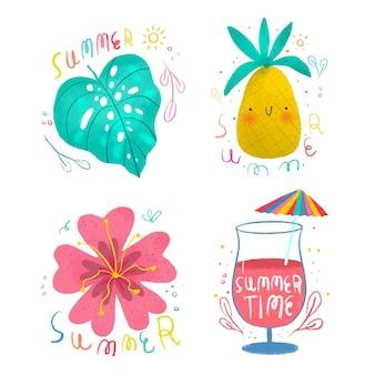 Sommeretiketten zeichnen