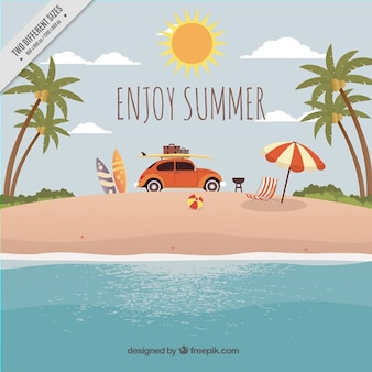 Sommerferien hintergrund
