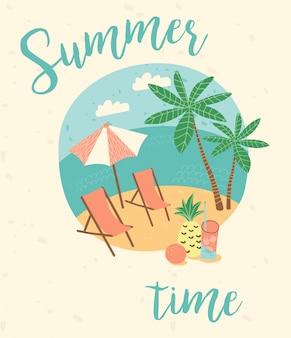 Sommerferien illustration.