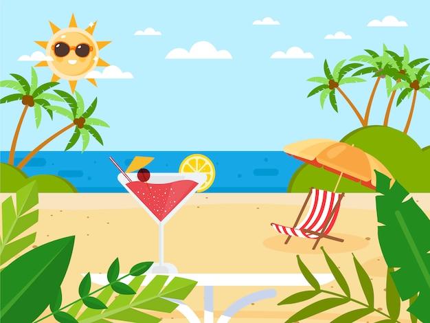 Sommerferien mit cocktail