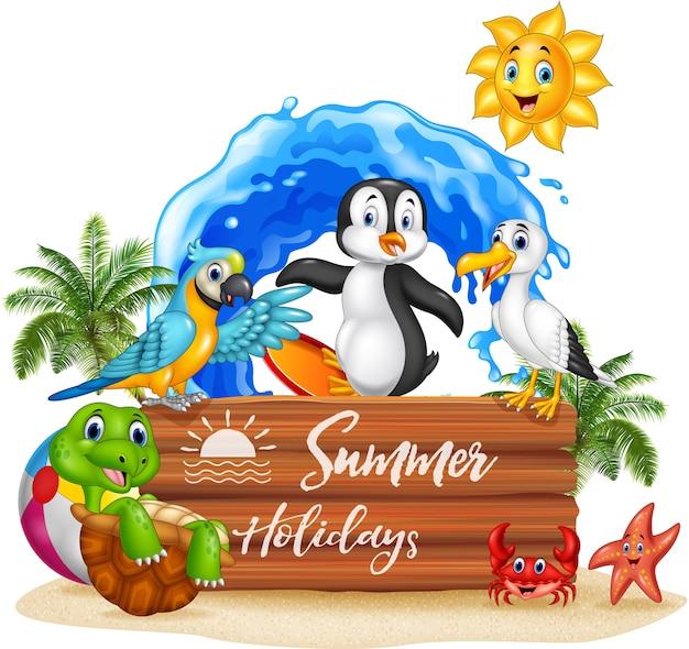 Sommerferien mit lustigen tieren