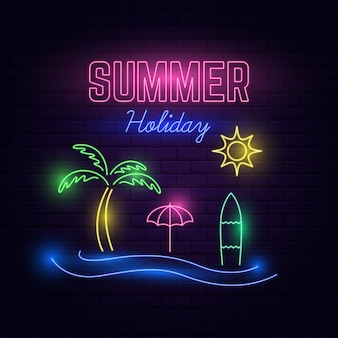 Sommerferien neonlicht