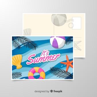 Sommerferien postkarte vorlage