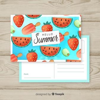 Sommerferien-postkarte