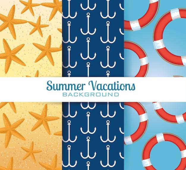 Sommerferien stellen muster hintergründe ein