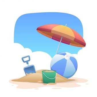 Sommerferien strand hintergrund
