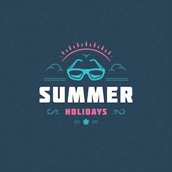 Sommerferien typografie motto