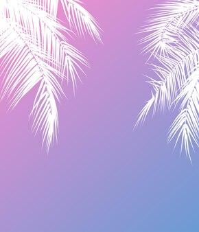 Sommerferien-vektor-illustration mit palmen. vorlage vektor.