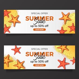 Sommerferien verkauf banner vorlage