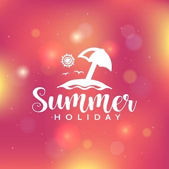 Sommerferienhintergrund mit bokeh lichtern