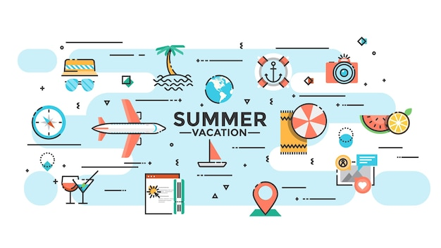 Sommerferienillustration