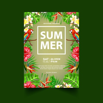 Sommerfest event flyer oder poster vorlage