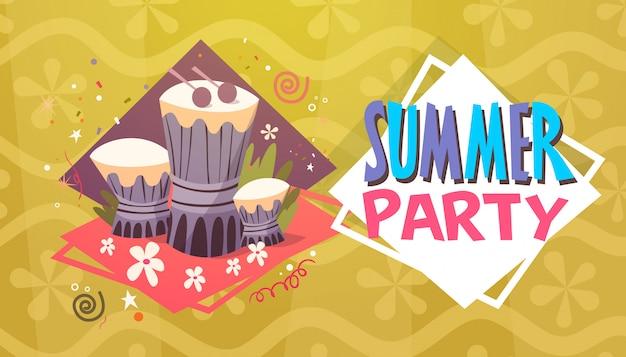 Sommerfest-ferien-seereisen-retro- fahnen-küstenurlaub
