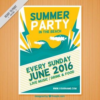 Sommerfest im strand plakat
