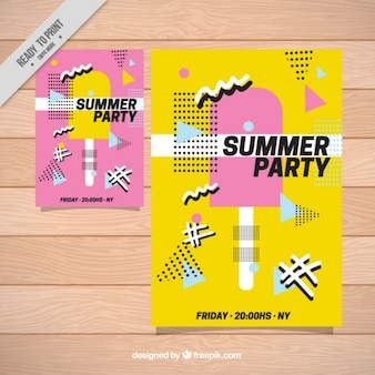 Sommerfest-plakat mit eis