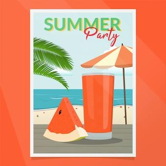 Sommerfest-plakat-vektor