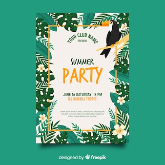 Sommerfest-plakatschablone