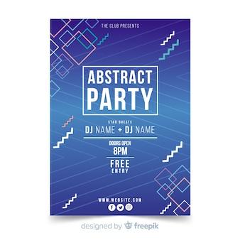 Sommerfestivalplakat der geometrischen formen