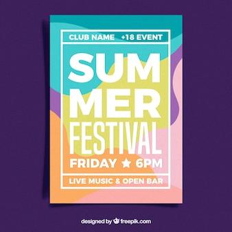 Sommerfestivalplakat in der abstrakten art