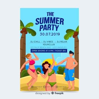 Sommerfestplakat- oder -fliegerschablone druckfertig
