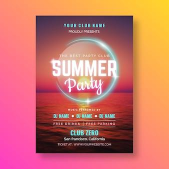 Sommerfestplakatvorlage mit foto