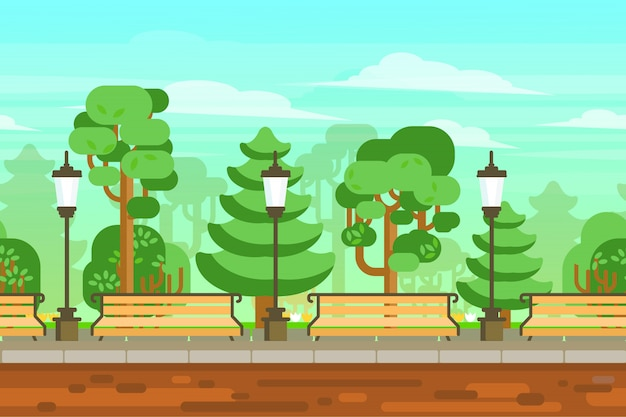 Sommergarten-landschaftsplakat