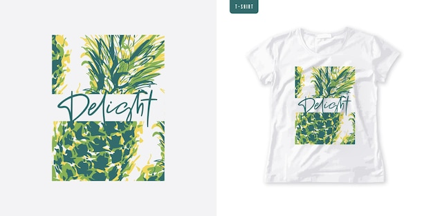 Sommergrafikfrauen-t-stück mit ananas