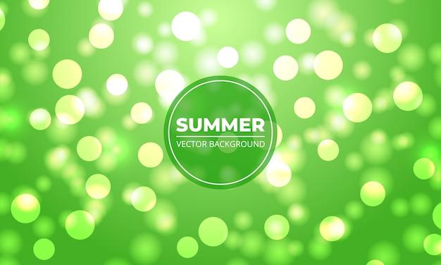 Sommerhintergrund. grünes und weißes bokeh beleuchtet hintergrund.