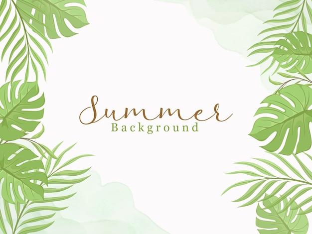 Sommerhintergrund mit blumenrahmen