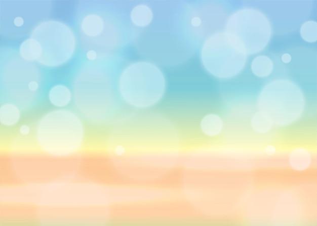 Sommerhintergrund mit bokeh-effekt