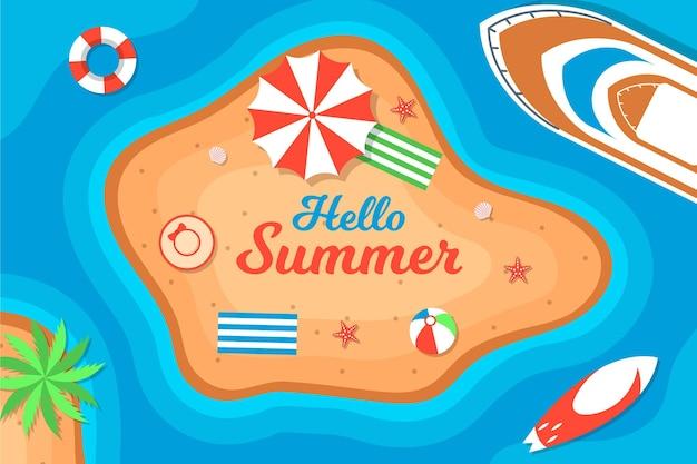 Sommerhintergrund mit strand