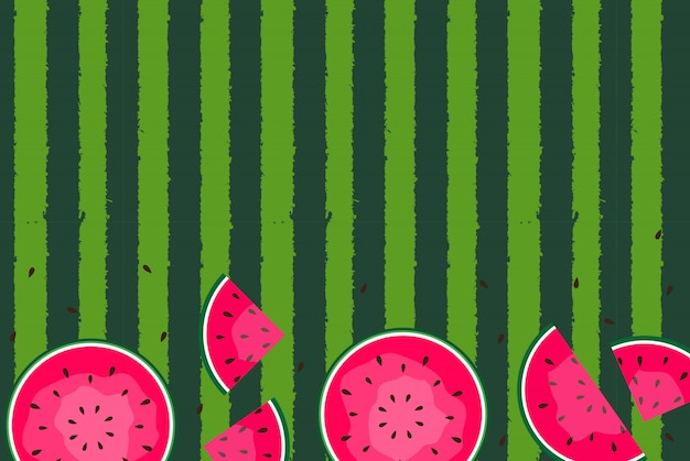Sommerhintergrund mit wassermelonen
