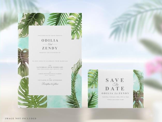 Sommerhochzeitseinladungskarten gesetzt