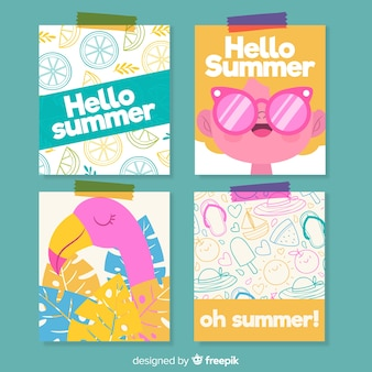 Sommerkarten-sammlung