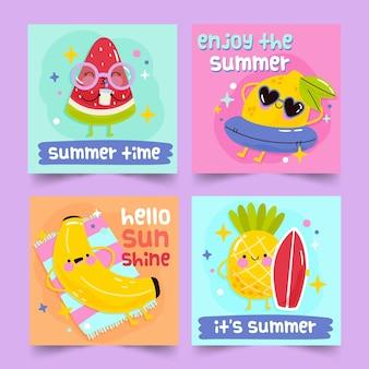 Sommerkarten-sammlungskonzept