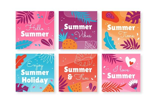 Sommerkartensammlung