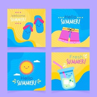 Sommerkartenvorlage