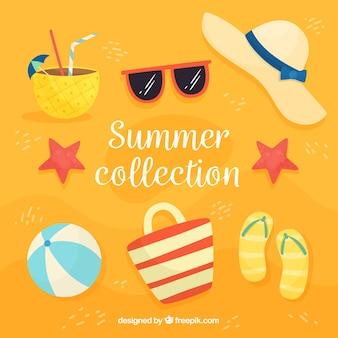 Sommerkollektion mit strandelementen
